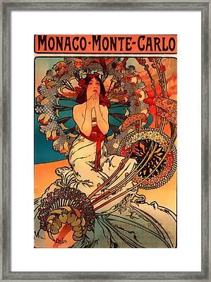 Visit Monaco Monte Carlo 1897 Framed Print