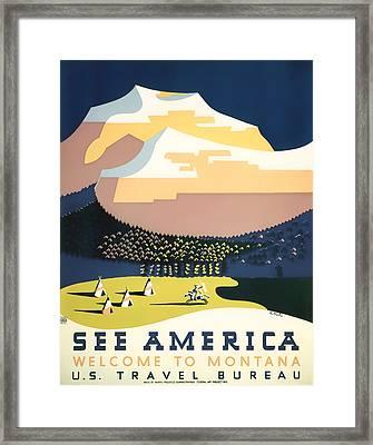 Visit Montana 1937 Framed Print