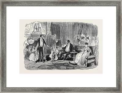 Visit Of The King Of The French To Queen Victoria Framed Print by English School