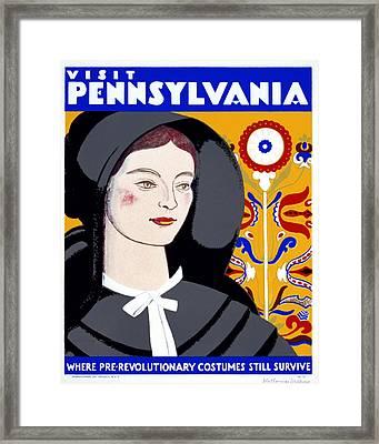Visit Pennsylvania Framed Print by Georgia Fowler