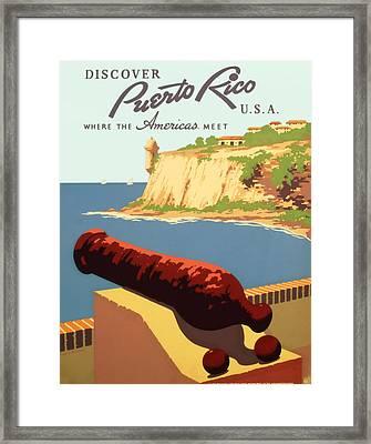 Visit Puerto Rico 1938 Framed Print