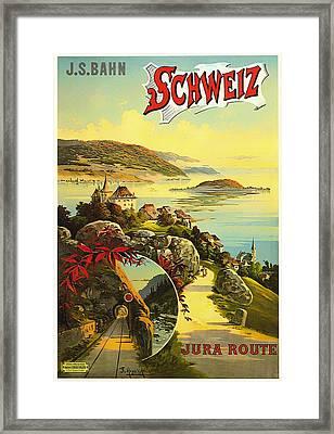 Visit Switzerland 1895 Framed Print