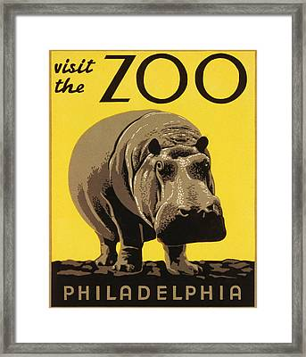 Visit The Philadelphia Zoo Framed Print by Bill Cannon