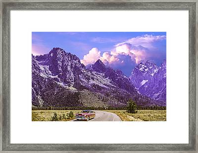 Visit Wyoming Framed Print