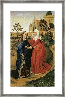 Visitation Of Mary Framed Print by Rogier Van Der Weyden