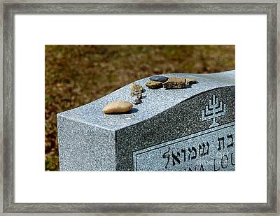 Visitation Stones On Jewish Grave Framed Print by Amy Cicconi