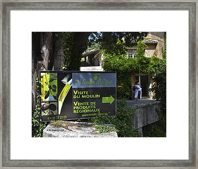 Framed Print featuring the photograph Visite Du Moulin by Allen Sheffield