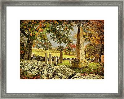 Visiting History Framed Print