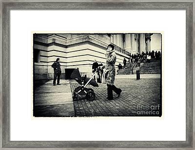 Visiting The Metropolitan Museum New York City Framed Print by Sabine Jacobs