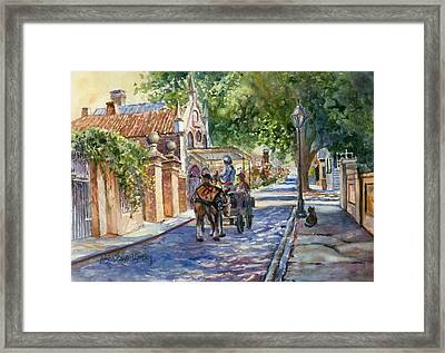 Visiting The S.o.b. Hood Framed Print by Alice Grimsley