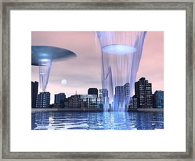 Visitors Framed Print by John Pangia