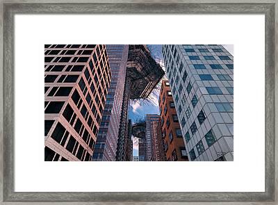 Framed Print featuring the digital art Visitors by Matt Lindley