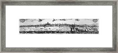 Visscher's View Of London Framed Print