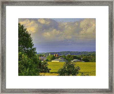 Vista At Tildon Wisconsin Framed Print by Larry Capra