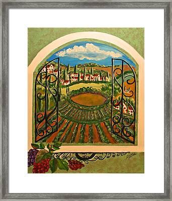 Vista Dalla Campagna Toscana Framed Print by Dina Jacobs