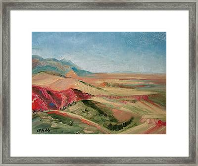 Vista From Buffalo Bill's Place Framed Print