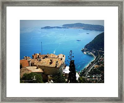 Vista From Eze Framed Print by Lainie Wrightson