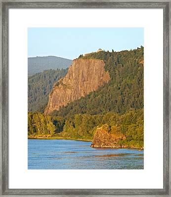 Vista House At Crown Point, Columbia Framed Print by Panoramic Images