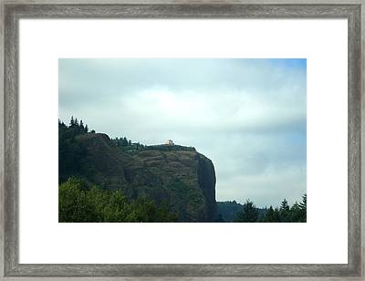 Vista House At Crown Point Promontory Framed Print by Lizbeth Bostrom