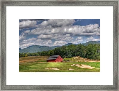 Vista Links Barn Framed Print by Todd Hostetter