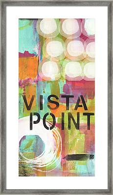 Vista Point- Contemporary Abstract Art Framed Print by Linda Woods