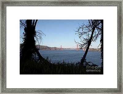 Vista To The San Francisco Golden Gate Bridge - 5d20983 Framed Print by Wingsdomain Art and Photography