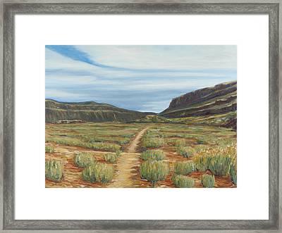 Vista Verde Trail I Rio Grande Gorge Nm Framed Print by David  Llanos