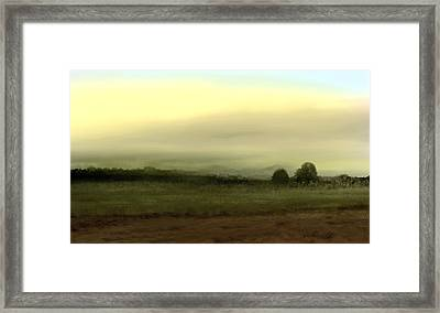 Vista With Trees Framed Print by John Townes