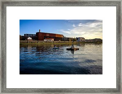 Vistula River Framed Print by Tomasz Dziubinski