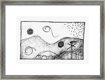 Visual Metaphors - Rolling Hills Framed Print by Andy  Mercer