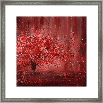 Visually Empowered- Marsala Art Framed Print by Lourry Legarde