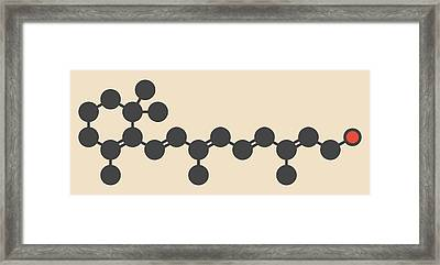 Vitamin A Molecule Framed Print by Molekuul
