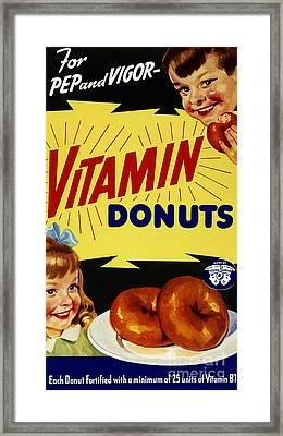 Vitamin Donut Framed Print