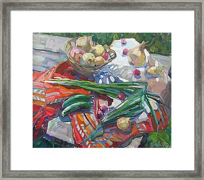Vitamin Still Life Framed Print