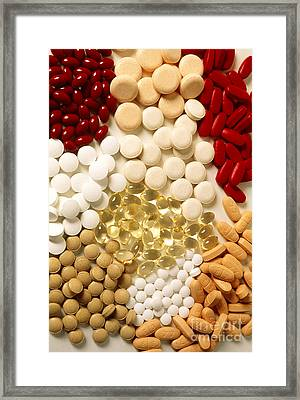 Vitamins Framed Print by Publiphoto