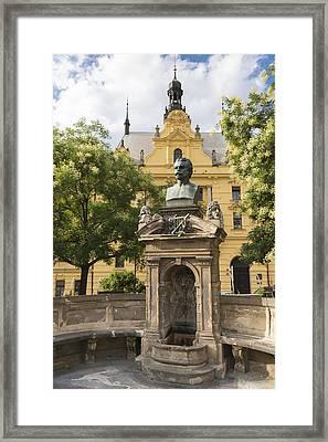 Vitezslav Halek Monument Prague Framed Print