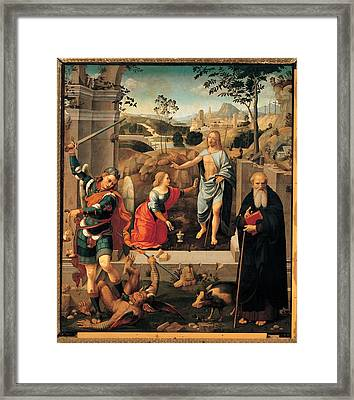 Viti Timoteo, Christ Appearing To Mary Framed Print
