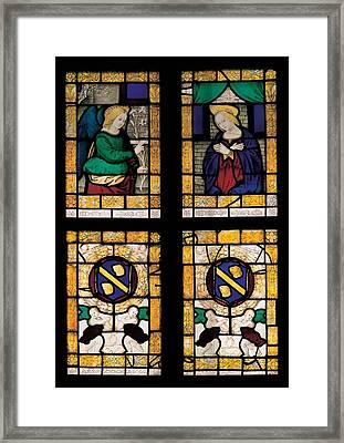 Viti Timoteo, The Annunciation Framed Print by Everett