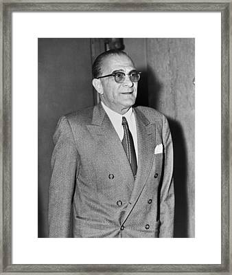 Vito Genovese Framed Print by Mountain Dreams