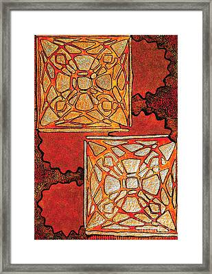 Vitrales II From The Frank Lloyd Wright A Mano Series Framed Print by Chary Castro-Marin