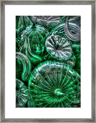 Vitreous Verdant Abstract Framed Print
