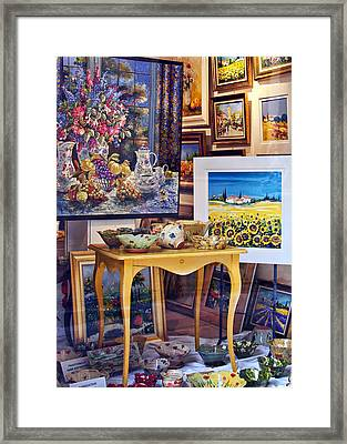 Vitrine En Provence Framed Print by Nikolyn McDonald