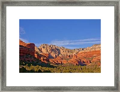 Vitrtual Amphtheater Of Red-rocks, Pink Framed Print