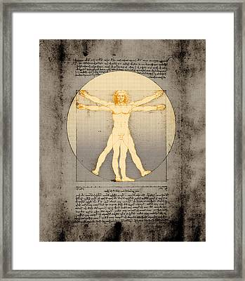 Vitruvian Man 14 Enlightenment Framed Print