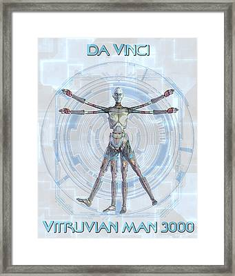Vitruvian Man 3000 Framed Print by Frederico Borges