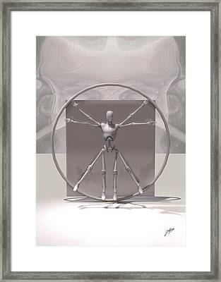 The Vitruvian Android Framed Print by Quim Abella