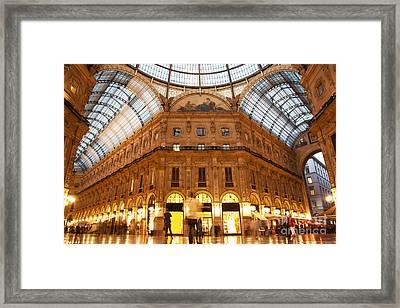 Vittorio Emanuele II Gallery Milan Italy Framed Print by Michal Bednarek