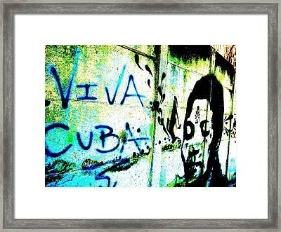 Viva Cuba Street Art Framed Print
