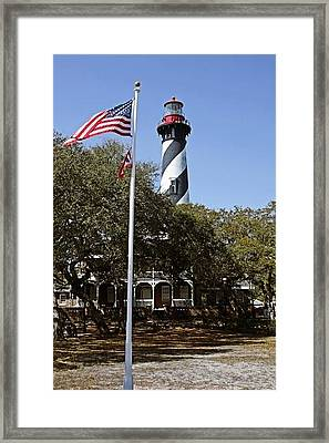 Viva Florida - The St Augustine Lighthouse Framed Print by Christine Till