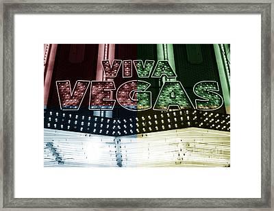Viva Vegas Fusion Framed Print